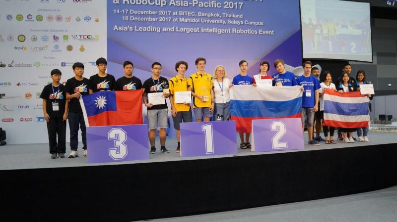 Seldon 机器人在泰国演出, 在2017 RoboCup Asia-Pacific竞赛中获得了银奖