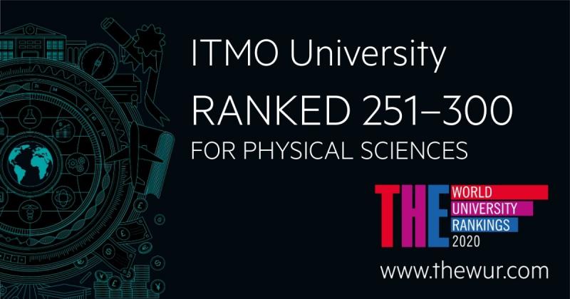 ITMO大学进入了《泰晤士高等教育》物理科学课方向的TOP-300