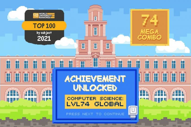 2021年QS WUR学科排名:ITMO大学计算机科学专业首次进入TOP-100