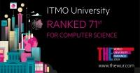 "THE计算机科学:ITMO大学在""计算机科学""领域的俄罗斯大学中处于领先地位"