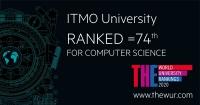 根据THE计算机科学专业排名的报道,ITMO大学保持其在全球最佳IT大学TOP-100中的地位