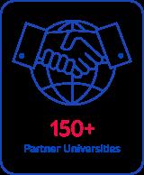 150+ Partner Universities